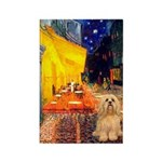 Cafe / Lhasa Apso #9 Rectangle Magnet (10 pack)