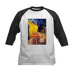 Cafe / Lhasa Apso #9 Kids Baseball Jersey