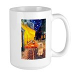 Cafe / Lhasa Apso #9 Large Mug