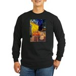 Cafe / Lhasa Apso #9 Long Sleeve Dark T-Shirt
