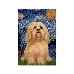 Starry / Lhasa Apso #9 Rectangle Magnet