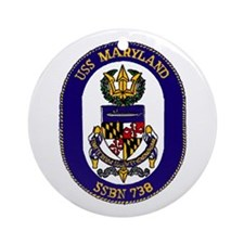USS Maryland SSBN 738 Ornament (Round)