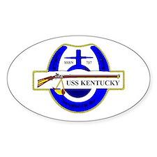 USS Kentucky SSBN 737 Oval Decal