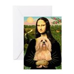 Mona / Lhasa Apso #9 Greeting Card