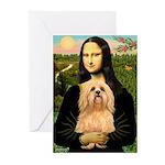 Mona / Lhasa Apso #9 Greeting Cards (Pk of 20)