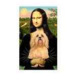 Mona / Lhasa Apso #9 Sticker (Rectangle)