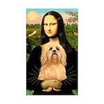 Mona / Lhasa Apso #9 Sticker (Rectangle)
