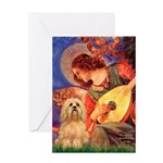 Mandolin / Lhasa Apso #9 Greeting Card