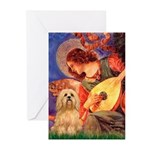 Mandolin / Lhasa Apso #9 Greeting Cards (Pk of 10)