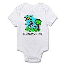 Grandma's Boy (Stick Figure) Infant Bodysuit