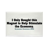 Recession Humor Rectangle Magnet (10 pack)