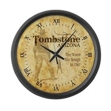 Tombstone Arizona Large Wall Clock