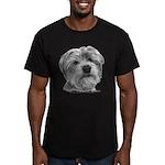 Biscuit, Shih Tzu-Terrier Men's Fitted T-Shirt (da