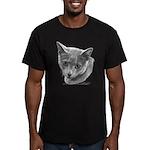 Russian Blue Cat Men's Fitted T-Shirt (dark)