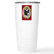 Border Collie Christmas Ceramic Travel Mug