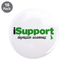 """iSupport Depression 3.5"""" Button (10 pack)"""