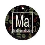 Mathematician Retro Ornament (Round)