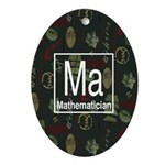 Mathematician Retro Oval Ornament