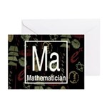 Mathematician Retro Greeting Cards (Pk of 10)