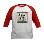 Mathematician Retro Kids Baseball Jersey