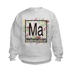 Mathematician Retro Kids Sweatshirt