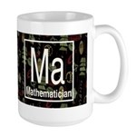 Mathematician Retro Dark Large Mug