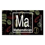 Mathematician Retro Rectangle Sticker 10 pk)