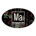 Mathematician Retro Oval Sticker (10 pk)