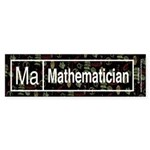 Mathematician Retro Bumper Sticker (10 pk)