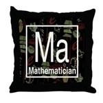 Mathematician Retro Throw Pillow