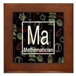 Mathematician Retro Framed Tile