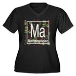 Mathematician Retro Women's Plus Size V-Neck Dark
