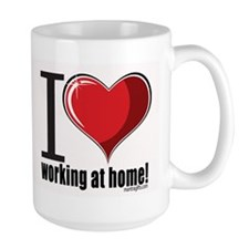 I heart working at home Mug