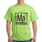Mathematician Retro Green T-Shirt