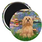 Lilies / Lhasa Apso #9 Magnet