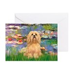 Lilies / Lhasa Apso #9 Greeting Cards (Pk of 10)