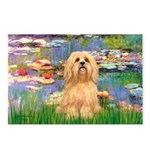 Lilies / Lhasa Apso #9 Postcards (Package of 8)
