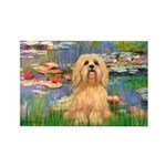 Lilies / Lhasa Apso #9 Rectangle Magnet