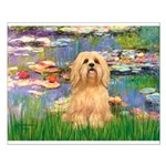 Lilies / Lhasa Apso #9 Small Poster