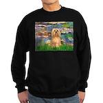 Lilies / Lhasa Apso #9 Sweatshirt (dark)