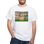 Lilies / Lhasa Apso #9 White T-Shirt