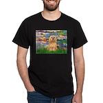 Lilies / Lhasa Apso #9 Dark T-Shirt