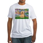 Lilies / Lhasa Apso #9 Fitted T-Shirt