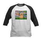 Lilies / Lhasa Apso #9 Kids Baseball Jersey