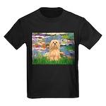Lilies / Lhasa Apso #9 Kids Dark T-Shirt