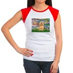Lilies / Lhasa Apso #9 Women's Cap Sleeve T-Shirt