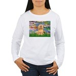 Lilies / Lhasa Apso #9 Women's Long Sleeve T-Shirt