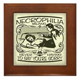 Necrophilia Framed Tile