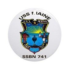 USS Maine SSBN 741 Ornament (Round)