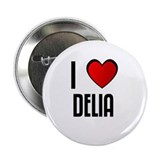 "I LOVE DELIA 2.25"" Button (10 pack)"